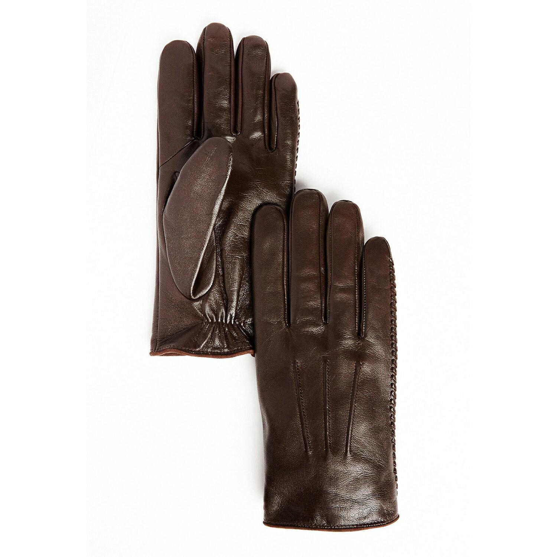 美國百分百【全新真品】Armani Exchange AX 手套 配件 羊皮 皮手套 真皮 皮質 咖啡 S 男 E656