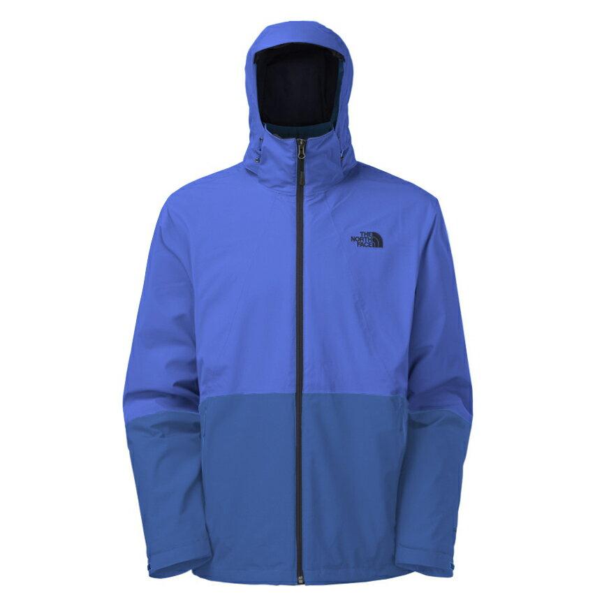 美國百分百【The North Face】外套 TNF 連帽 夾克 Hyvent 防水 兩件式 防寒 藍色 M E664