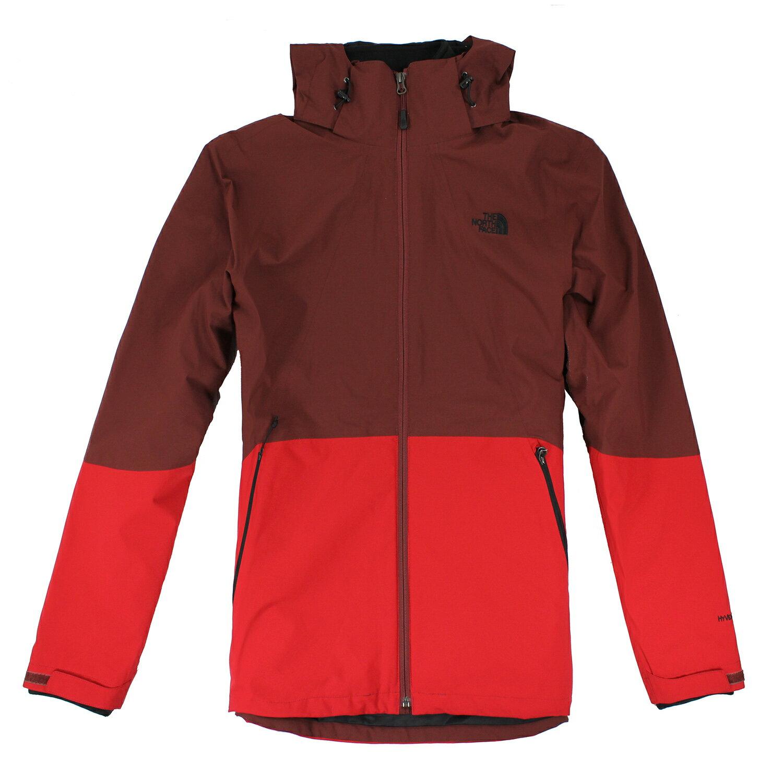 美國百分百【The North Face】外套 TNF 連帽 夾克 Hyvent 防水 兩件式 防寒 紅色 M E664