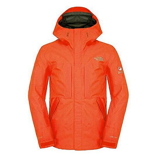 美國百分百【The North Face】外套 TNF 雪衣 夾克 GORE-TEX 滑雪 RECCO 橘 M E670