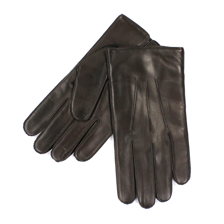 美國百分百【全新真品】COACH 手套 皮手套 82863 咖啡色 配件 真皮 保暖 喀什米爾 羊毛 男 L號 E681