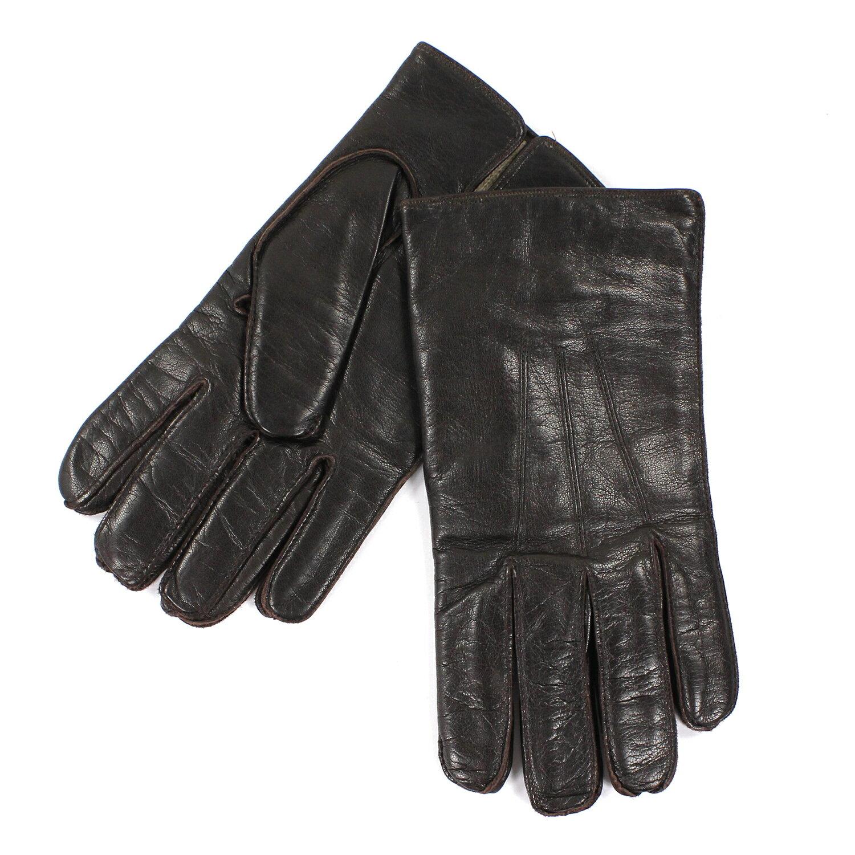 美國百分百【全新真品】COACH 手套 皮手套 深咖啡色 配件 真皮 保暖 喀什米爾 羊毛 男 M號 E684