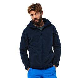 美國百分百【全新真品】Columbia 外套 夾克 連帽 哥倫比亞 登山 深藍 鋪棉 防潑水 男 XL E696