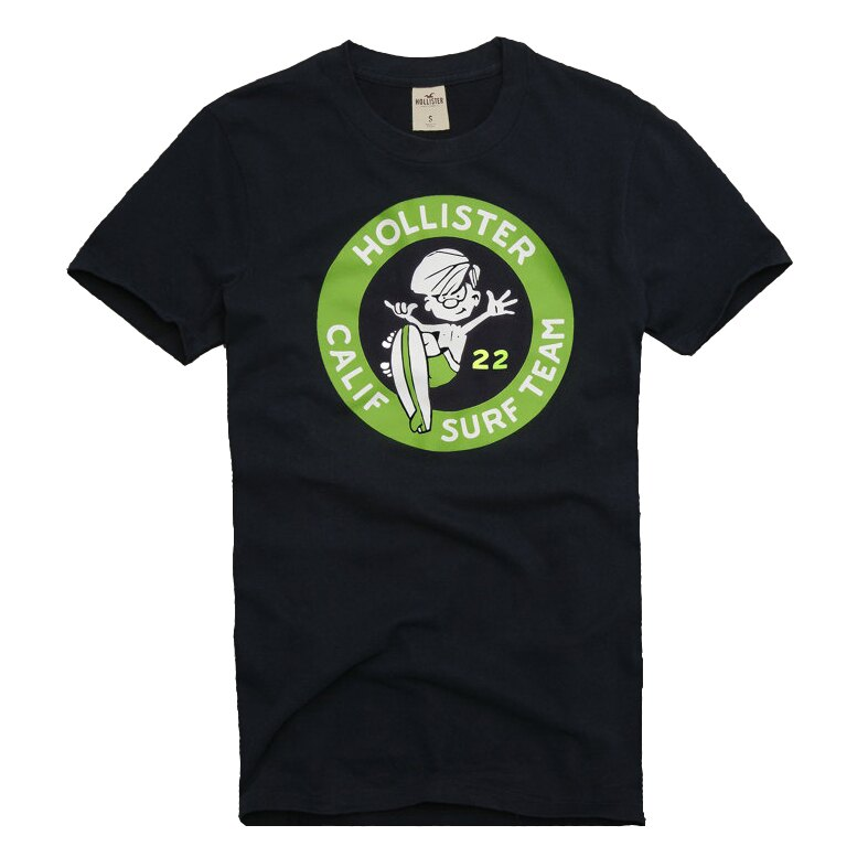 美國百分百【全新真品】Hollister Co T恤 HCO 男 深藍 短袖 T-shirt 海鷗 阿丹 E758