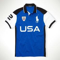 美國百分百【全新真品】Ralph Lauren Polo衫 RL 短袖 Polo 大馬 寶藍 徽章 S M 男 E768