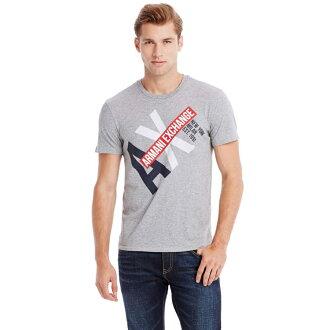 美國百分百【全新真品】Armani Exchange T恤 AX 短袖 上衣 T-shirt 灰 XS S M E778