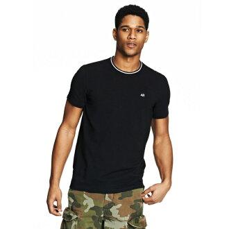 美國百分百【Armani Exchange】T恤 AX 短袖 logo 上衣 T-shirt 深藍 XS S號 E780
