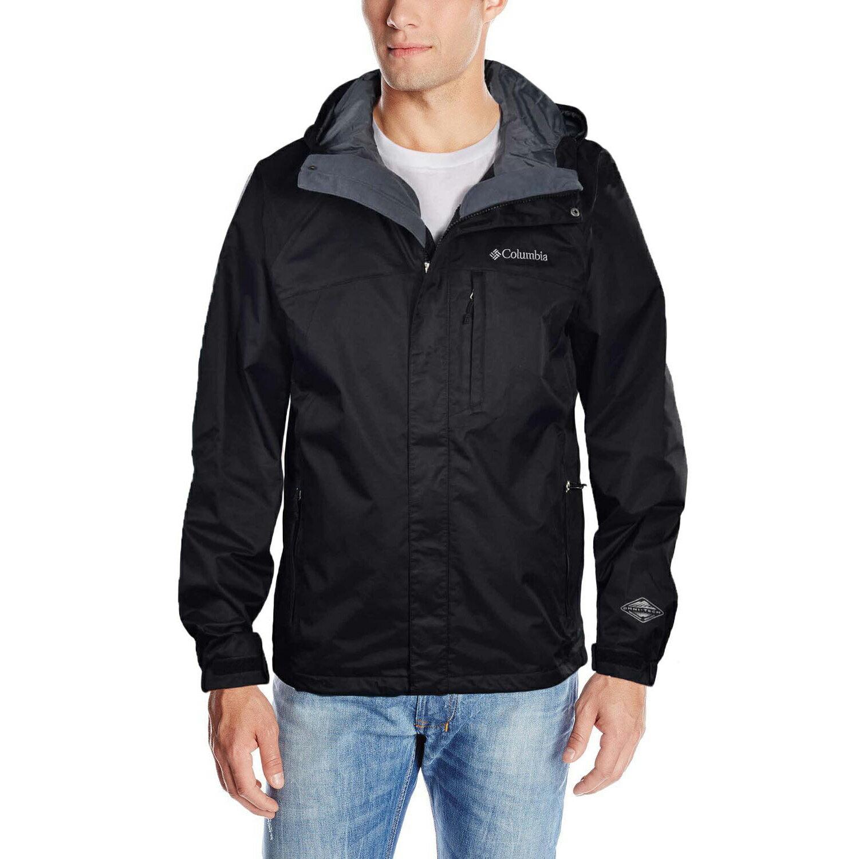 美國百分百【全新真品】Columbia 外套 夾克 連帽 哥倫比亞 登山 滑雪 黑色 兩件式 防水 男 S號 C817