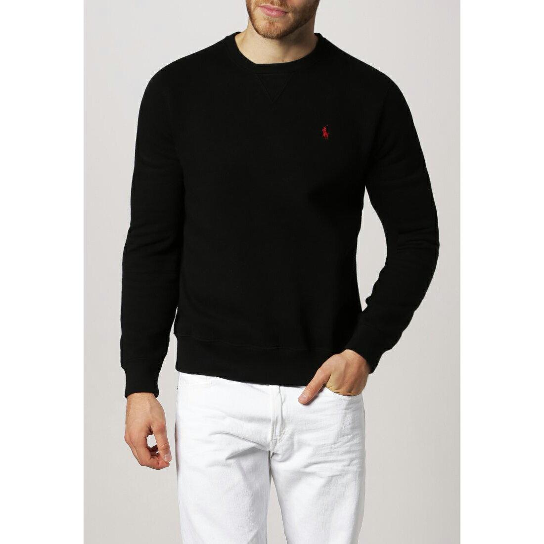 美國百分百【Ralph Lauren】T恤 RL 長袖 小馬 針織 polo 大學T 黑 M L XL XXL C524