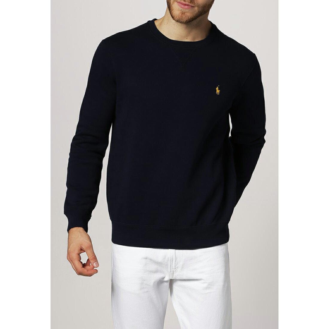 美國百分百【Ralph Lauren】T恤 RL 長袖 小馬 針織 深藍 polo 大學T S M L XXL C524