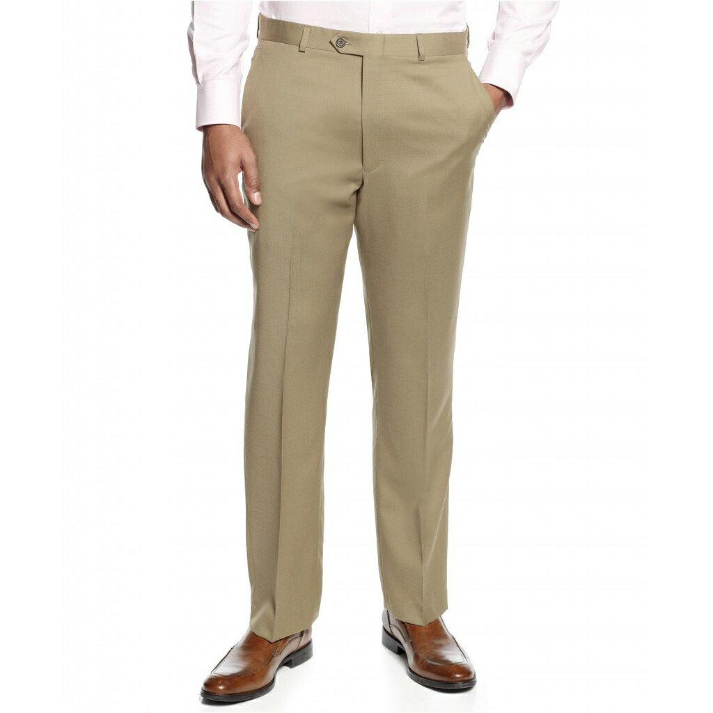 美國百分百【Ralph Lauren】長褲 RL 西裝褲 直筒 休閒褲 上班 polo 合身 羊毛 卡其 34 E806