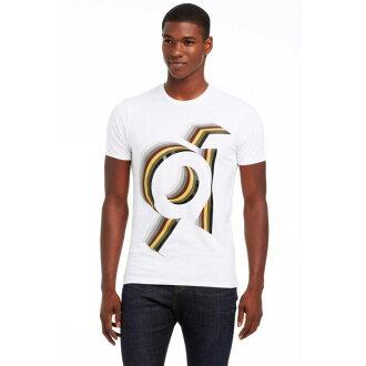 美國百分百【Armani Exchange】T恤 AX 短袖 上衣 logo 數字 T-shirt 白色 S號 E829