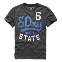 Superdry極度乾燥-男T恤推薦到美國百分百【Superdry】極度乾燥 T恤 上衣 T-shirt 短袖 短T 雪花 圓領 深灰 復古 S M號 E830就在美國百分百推薦Superdry極度乾燥-男T恤