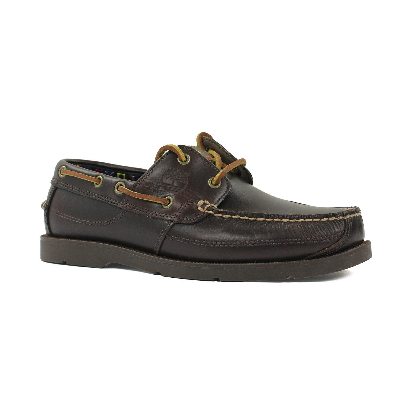 美國百分百【全新真品】Timberland 鞋子 帆船鞋 5230R 男鞋 經典款 雷根鞋 小牛皮 深棕色 E844