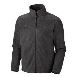 美國百分百【全新真品】Columbia 外套 夾克 立領 哥倫比亞 登山 灰色 刷毛 中空纖維 保暖 男 M號 E848
