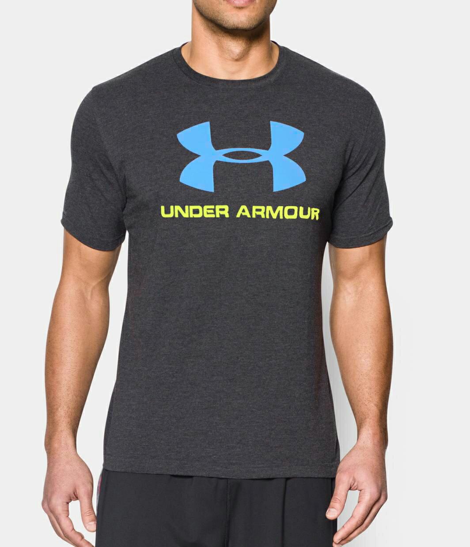 美國百分百【Under Armour】運動時尚 UA T恤 Logo T-shirt 鐵灰 M L XXL E873