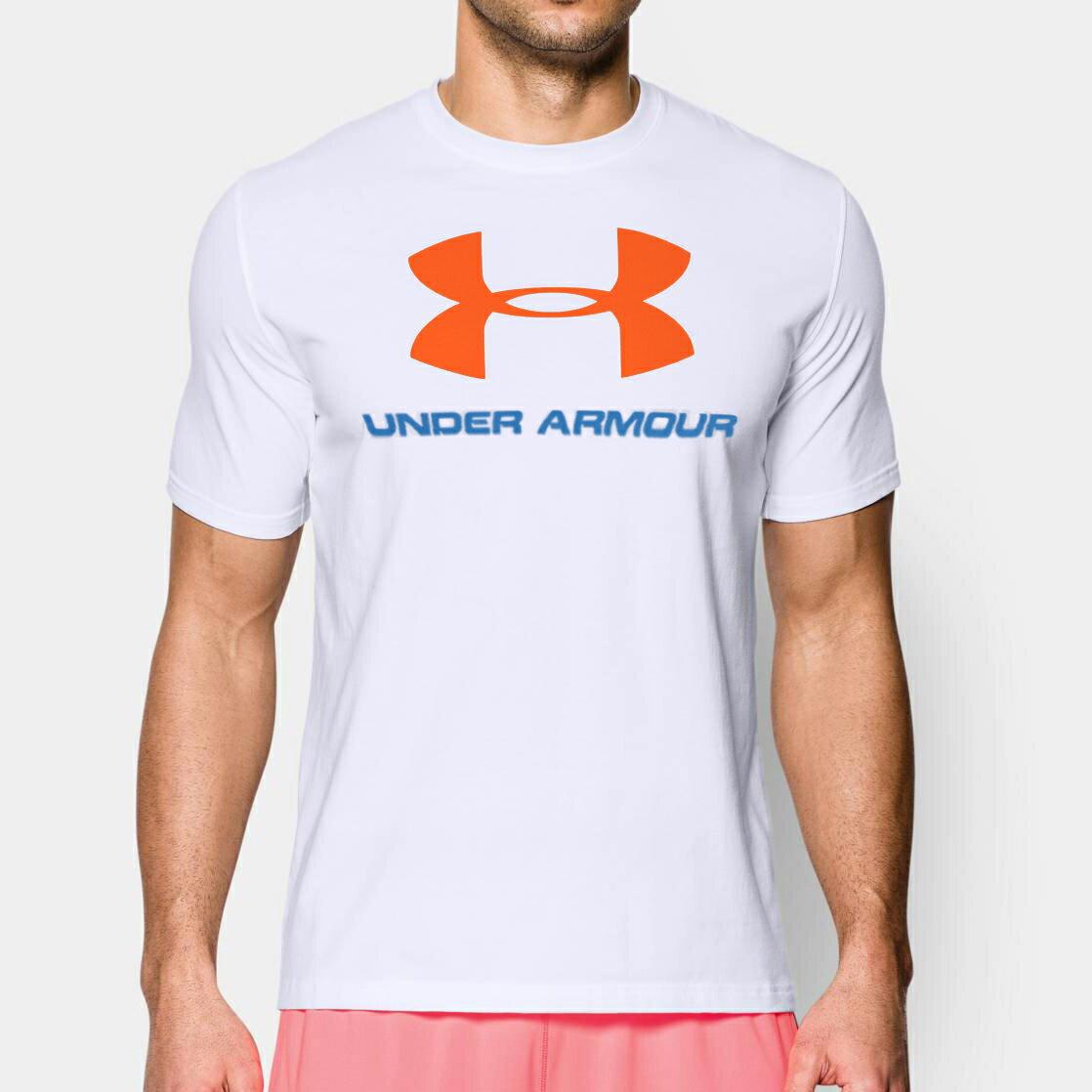 美國百分百【全新真品】Under Armour 運動時尚 UA T恤 Logo T-shirt 白 S M E873