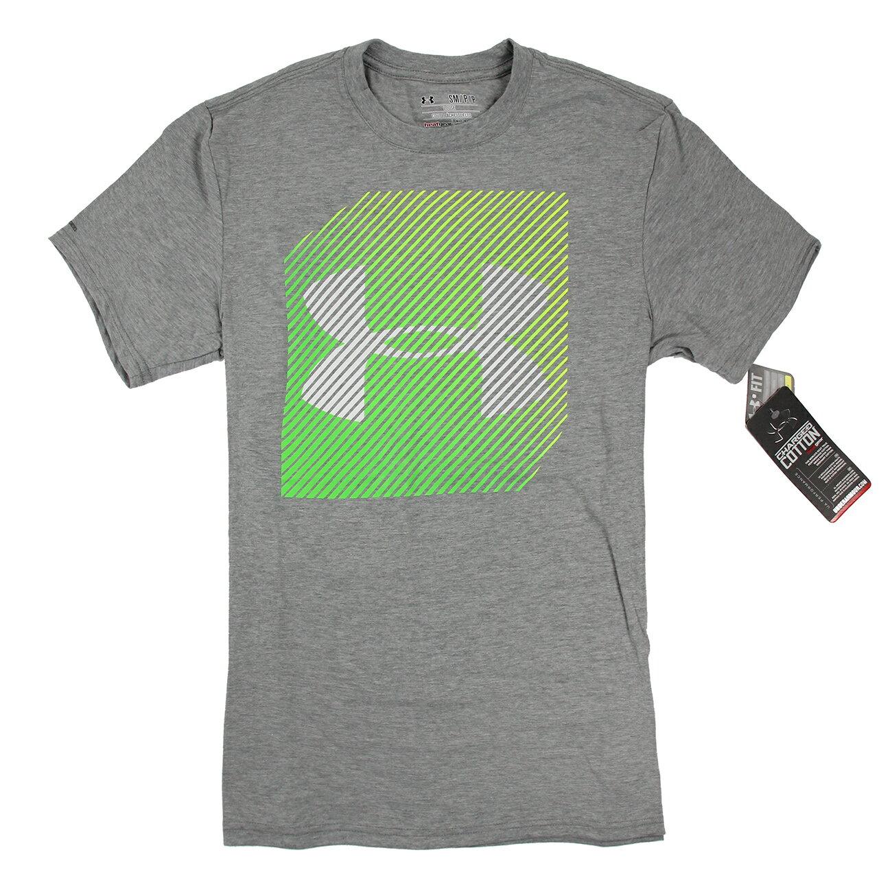 美國百分百【全新真品】Under Armour 運動時尚 UA T恤 Logo T-shirt 灰色 螢光 S E875