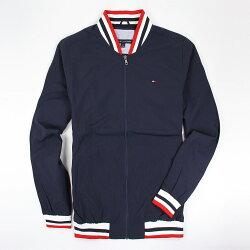 美國百分百【全新真品】Tommy Hilfiger 外套 布勞森 夾克 TH 棒球外套 深藍 男 S M號 E878