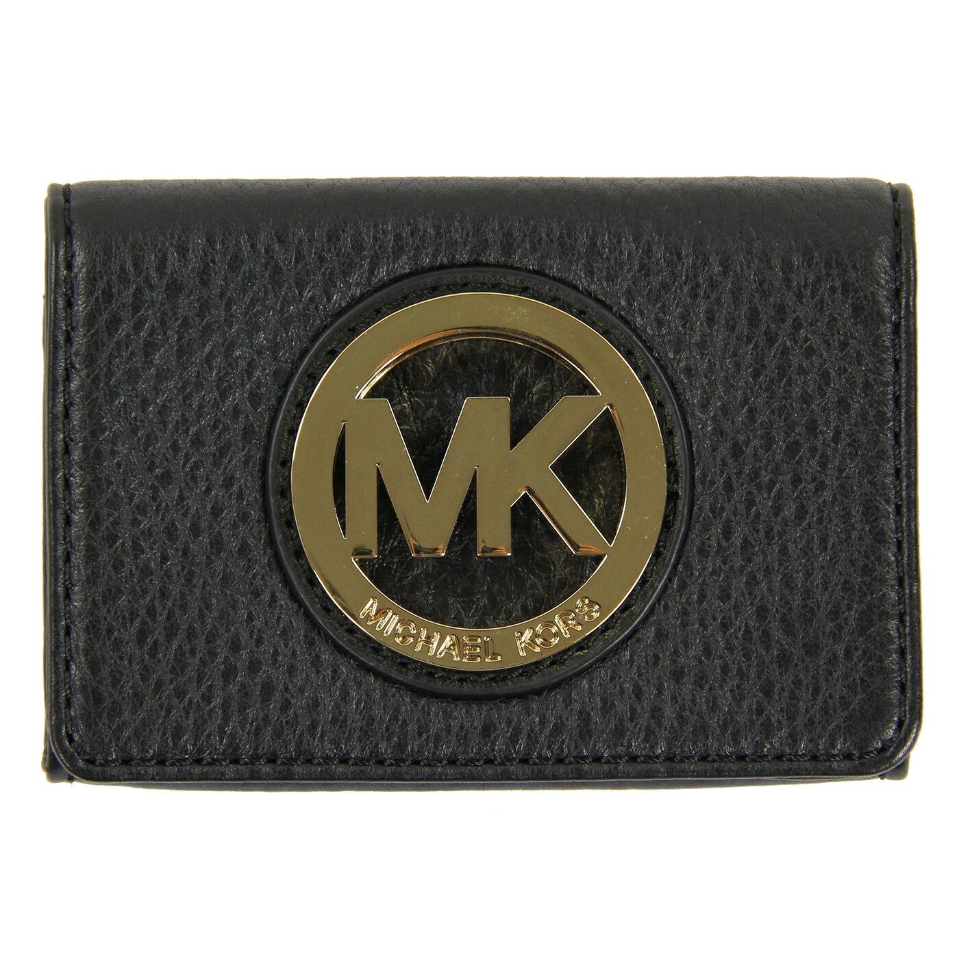 美國百分百【MICHAEL KORS 】MK 女包 皮包 皮質 小包 手提包 扁包 精品 皮夾 零錢包 黑色 E543