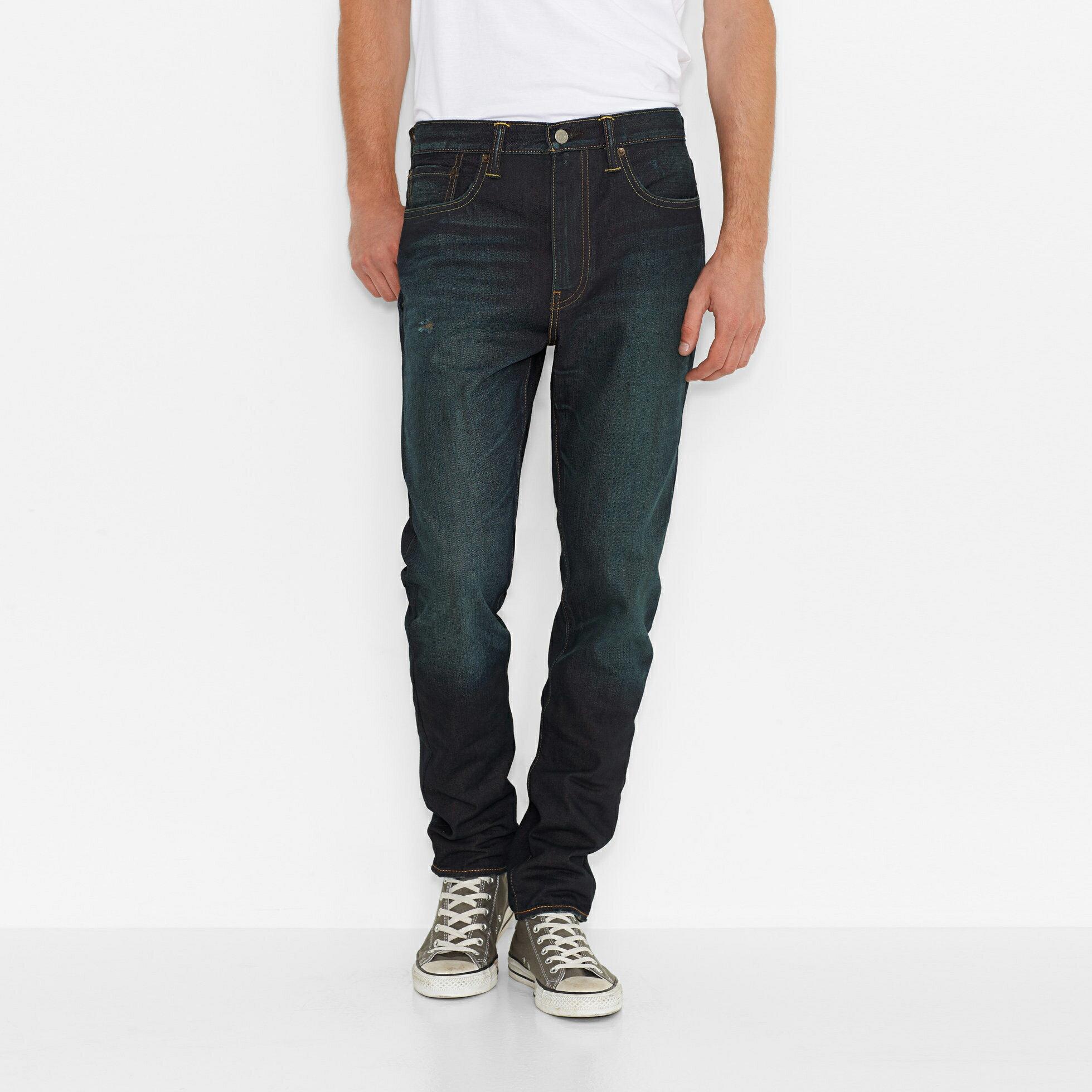 美國百分百【全新真品】Levis 522 Slim Taper 男款 牛仔褲 直筒 合身 28 30腰 復古藍 E949