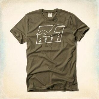 美國百分百【Hollister Co.】T恤 HCO 短袖 T-shirt 海鷗 沼澤綠 logo S XL號 E964