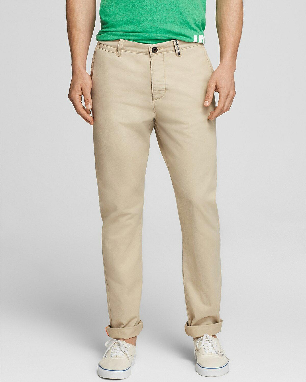 美國百分百【全新真品】Superdry 極度乾燥 長褲 褲子 休閒褲 工作褲 卡其色 復古 合身 S L號 E970