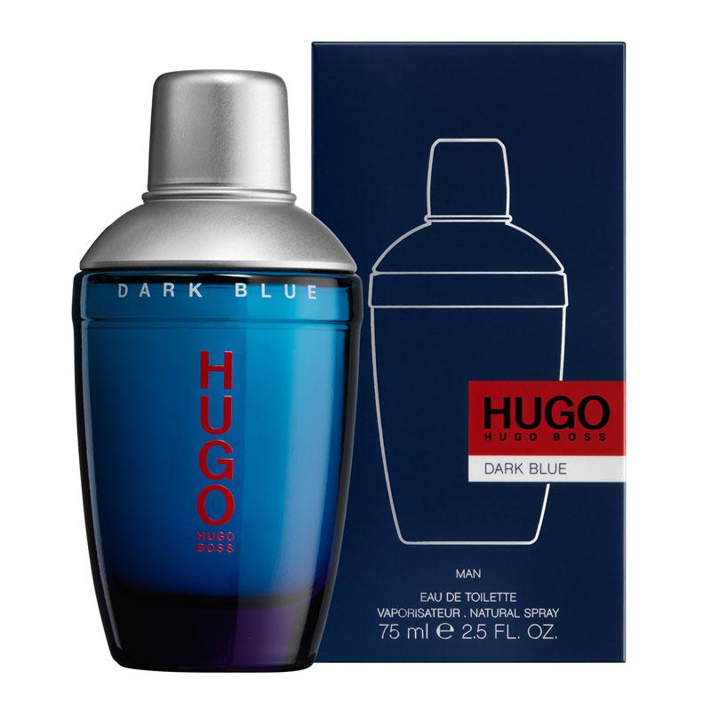 美國百分百【全新真品】HUGO BOSS DARK BLUE MEN 深藍優客 男性 淡香水 75ML 原廠包裝