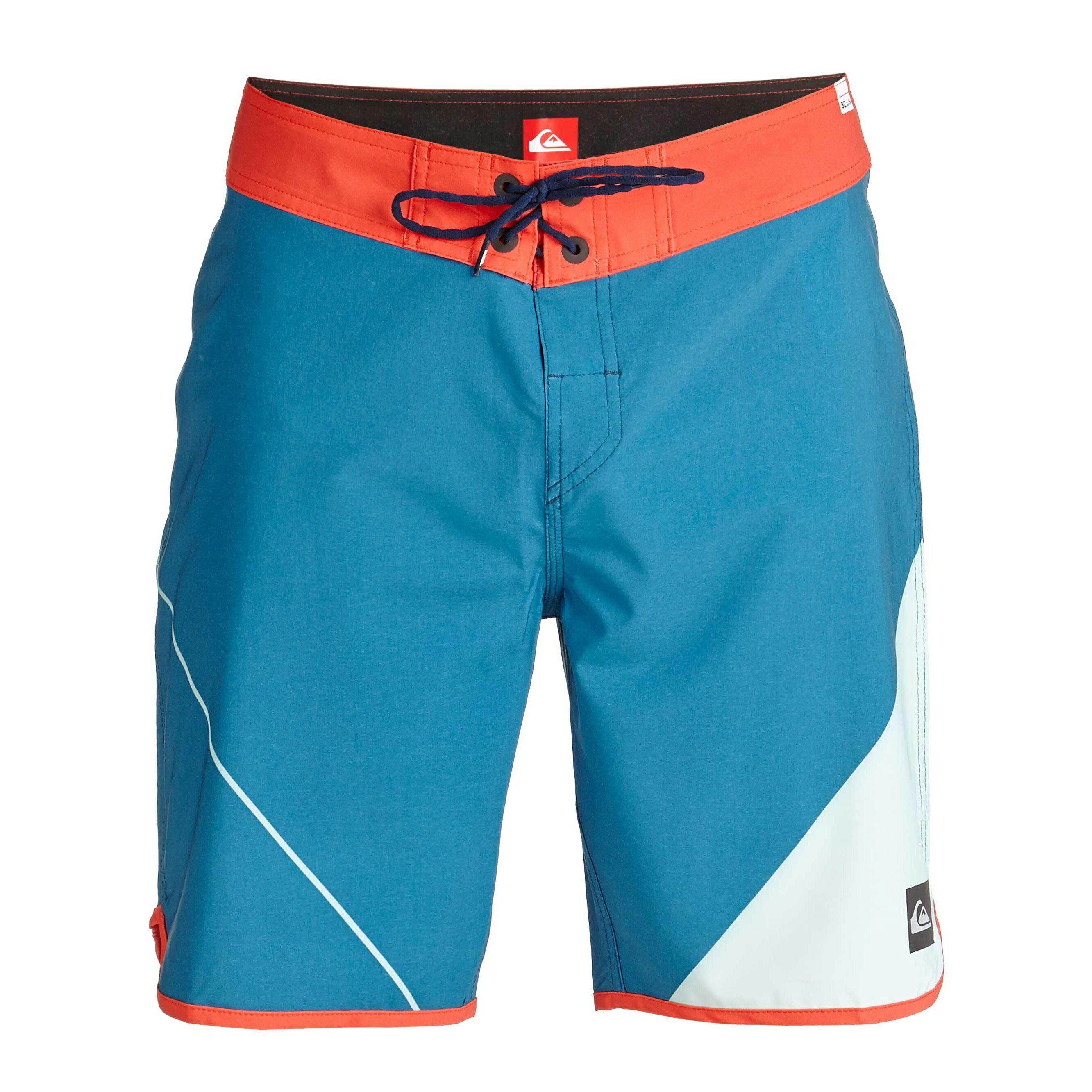 美國百分百【全新真品】Quiksilver 海灘褲 男 短褲 泳褲 沙灘褲 衝浪褲 AG47 橘色 藍色 淺綠 E984
