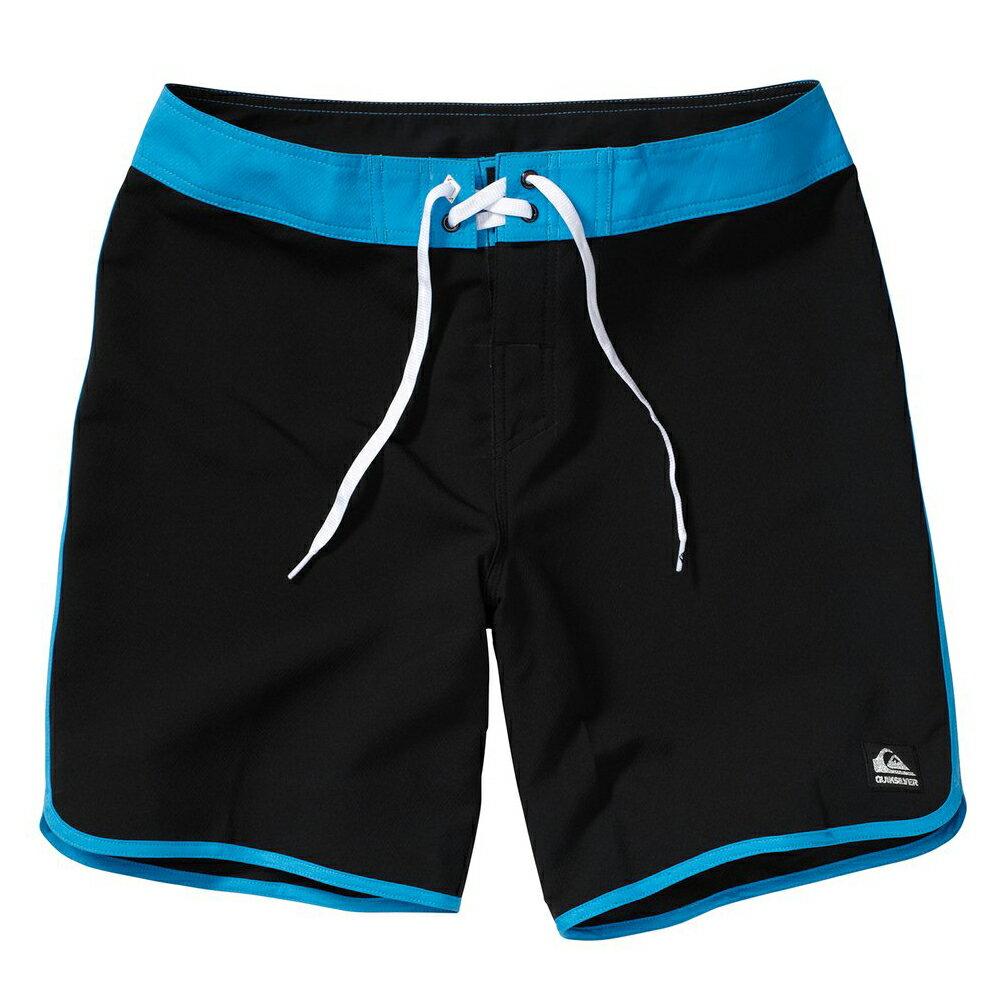 美國百分百【全新真品】Quiksilver 海灘褲 男 短褲 泳褲 沙灘褲 衝浪褲 美式 復古 黑色 藍色 E991