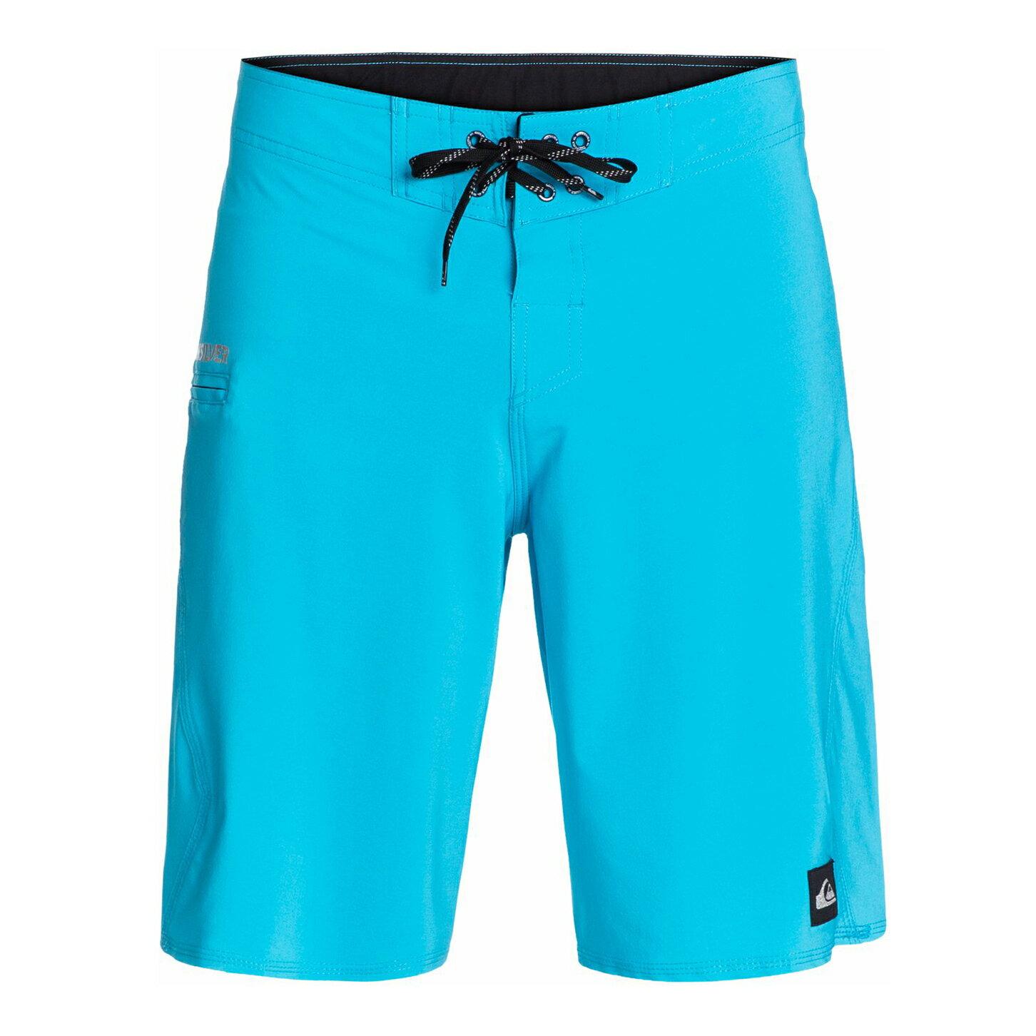 美國百分百【全新真品】Quiksilver 海灘褲 男 短褲 泳褲 沙灘褲 衝浪褲 美式 復古 口袋 藍色 E992