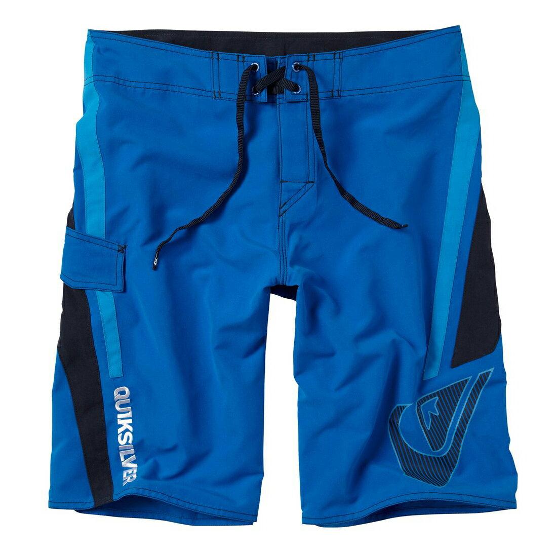 美國百分百【全新真品】Quiksilver 海灘褲 男 短褲 泳褲 沙灘褲 衝浪褲 logo 口袋 黑色 藍色 E994