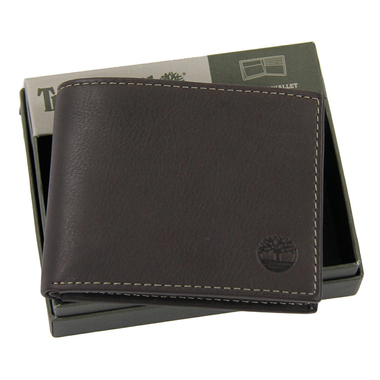 美國百分百【全新真品】Timberland 皮夾 短夾 錢包 皮包 深咖啡 真皮 經典 證件 鈔票夾 男用 B379