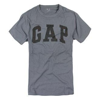 美國百分百【全新真品】GAP T恤 T-SHIRT 短袖 上衣 LOGO 迷彩 圓領 灰色 純棉 S號 男 F011