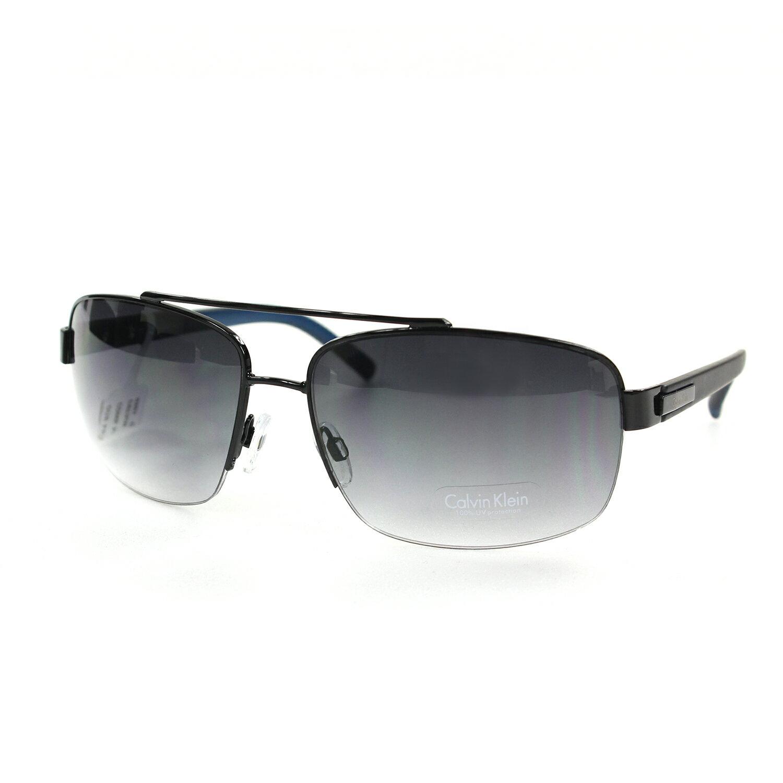 美國百分百【全新真品】Calvin Klein 太陽眼鏡 CK 墨鏡 配件 眼鏡 抗UV 騎士 黑灰 藍鏡腳 F067