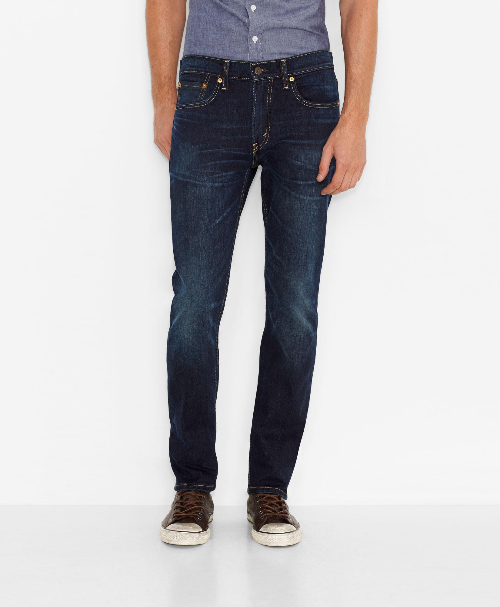 美國百分百【全新真品】Levis 511 Slim Fit 男 牛仔褲 直筒褲 合身 單寧 深藍刷白 28 31 32腰 E264