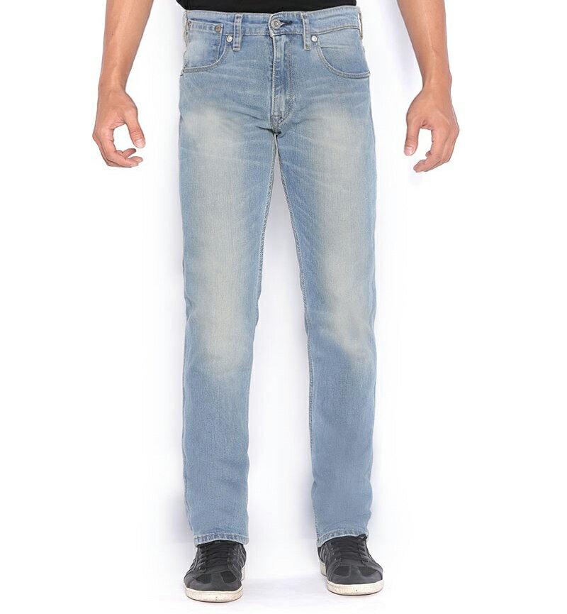 美國百分百【全新真品】Levis 511 Slim Fit 男 牛仔褲 直筒褲 合身 單寧 淡藍刷白 31腰 E264