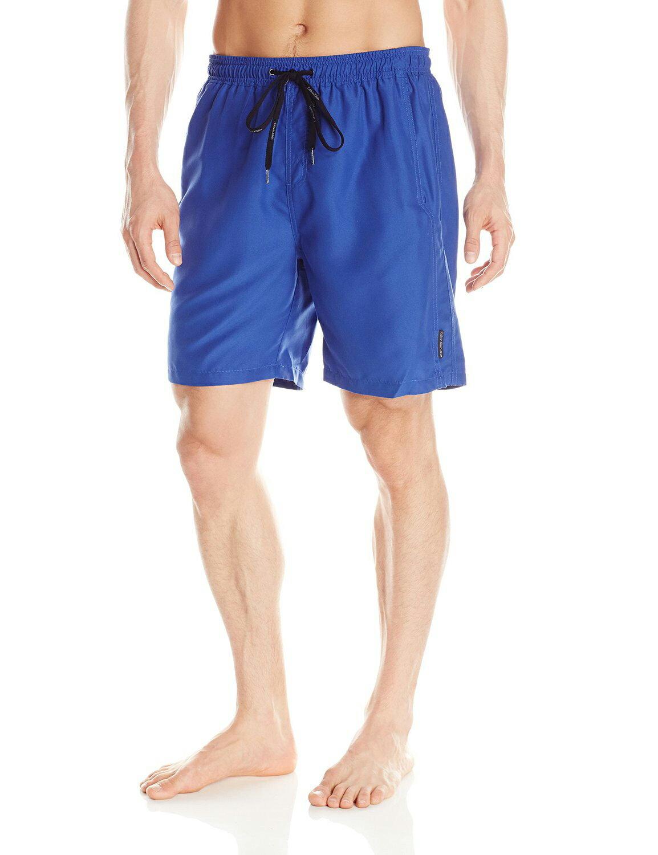 美國百分百【全新真品】Calvin Klein 短褲 CK 休閒褲 海灘褲 泳褲 沙灘褲 衝浪褲 寶藍色 男 S M L號 F114