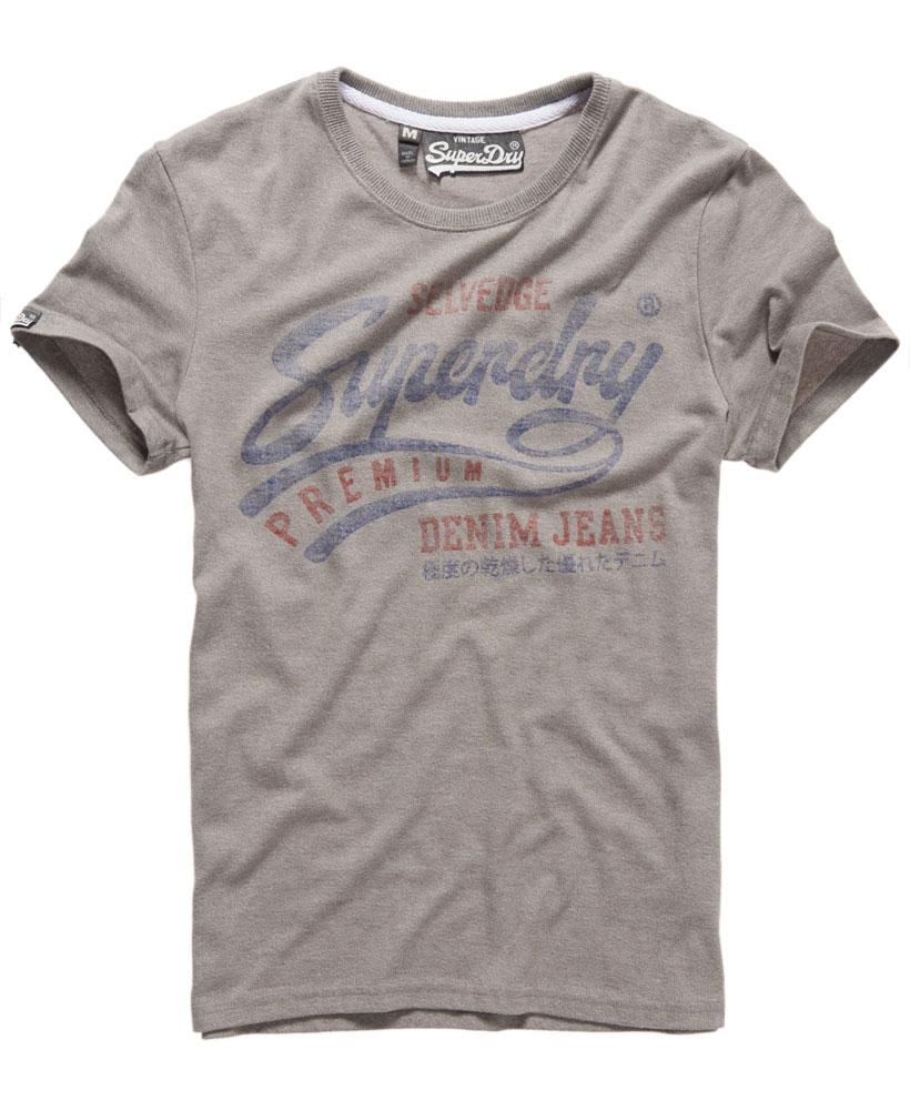 美國百分百【Superdry】極度乾燥 T恤 上衣 T-shirt 短袖 短T 水洗 圓領 灰色 復古 洗舊 S L XXL號 F227