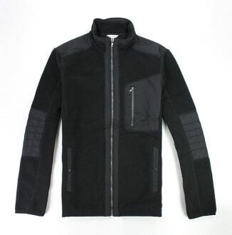 美國百分百【全新真品】【全新真品】Calvin Klein 外套 CK 騎士外套 黑色 立領夾克 中空纖維 保暖 L號 D292