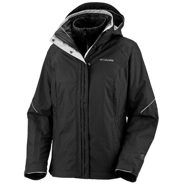 美國百分百【哥倫比亞】Columbia 3-in-1 男 女 2way 防寒外套 夾克 輕巧 透氣 保暖 黑 免運 M L號