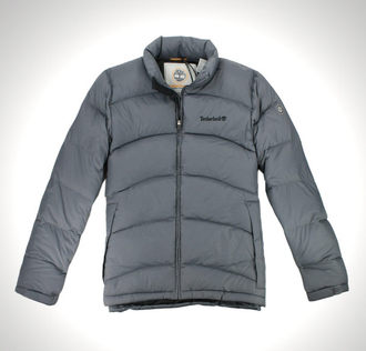 美國百分百【全新真品】Timberland 羽絨外套 80%羽絨 夾克 立領 灰色 外衣 類輕量 男款 L號 B933