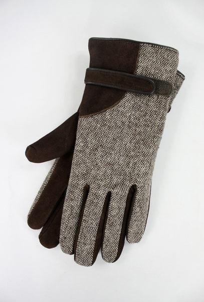 美國百分百【全新真品】Clarks 克拉克 男 女 棕色 麂皮感 英倫風 騎士 手套 配件 L號 超取