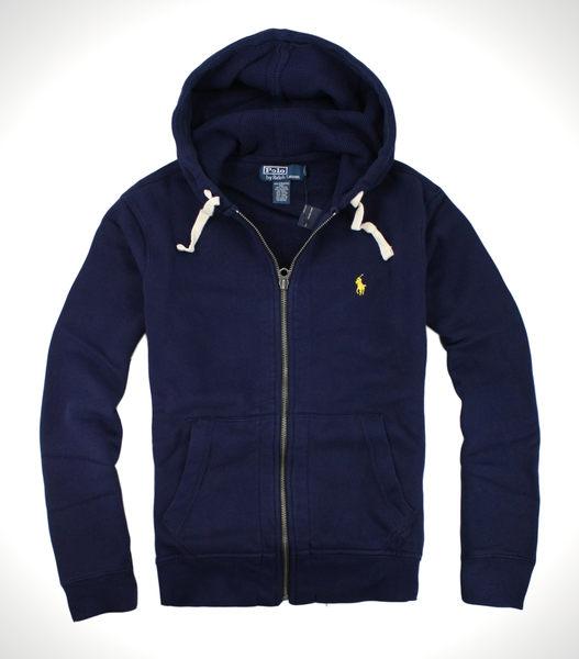 美國百分百【全新真品】Ralph Lauren RL 男 深藍 連帽 外套 夾克 POLO 經典 黃馬 免運 S M XL XXL