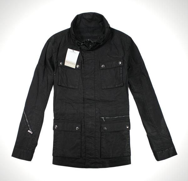 美國百分百【全新真品】Calvin Klein CK 男 騎士夾克 風衣 皮衣設計 外套 多口袋 免運 黑 S M