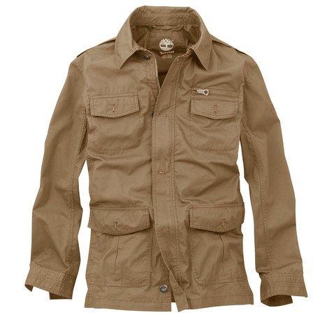 美國百分百【全新真品】Timberland 男 咖啡色 外套 夾克 連帽外套 立領 風衣 騎士 免運 M 號
