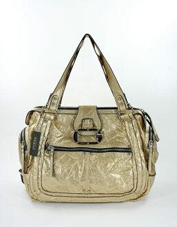 美國百分百【全新真品】Guess 醫生包 大方包 手提包 肩背包 側背包 金黃色 男 女