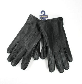 美國百分百【全新真品】Ralph Lauren RL 男 女 花紋 黑色 手套 真皮 中空纖維 Polo 馬 免運 M號
