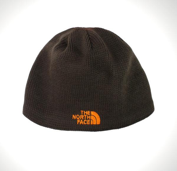 美國百分百【全新真品】The North Face 帽子 毛線帽 毛帽 男帽 配件 咖啡色 橘Logo TNF B353