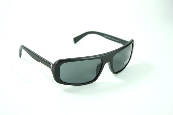 美國百分百【全新真品】Prada 男 配件 飾品 黑銀 太陽眼鏡 墨鏡 運動 型男 抗UV 設計 免運